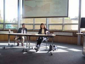 Ioanna Tourkochoriti presenting Human Dignity: A Legal Value?